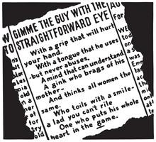 Gimme The Guy - Retro Ad Art Banner