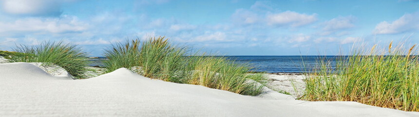 Panel Szklany PodświetlaneBaltic Sea Beach - Panorama