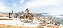 The Beautiful Historic Chateau Frontenac In Quebec City In Winter Season