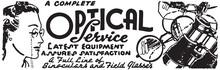 Optical Service - Retro Ad Art...