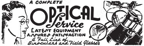 Photo Optical Service - Retro Ad Art Banner