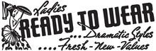 Ready To Wear - Retro Ad Art Banner