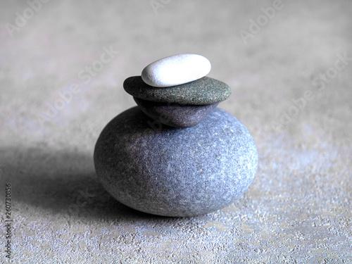 Foto op Plexiglas Stenen in het Zand pyramid from a sea of stones