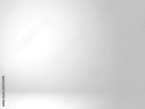 Fototapeta Abstract silver background for web design templates, christmas, valentine, product studio room and business report with smooth gradient color. Gray and white background. obraz na płótnie