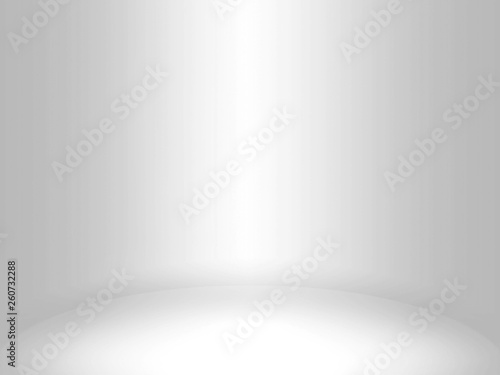 Fototapety, obrazy: Abstract silver background for web design templates, christmas, valentine, product studio room and business report with smooth gradient color. Gray and white background.