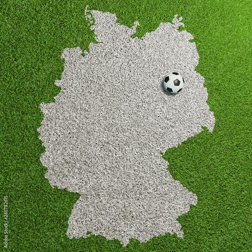 Fussball Rasen Mit Deutschland Karte Und Berlin Buy This
