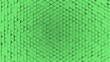 Leinwanddruck Bild - Abstract geometric plastic background from small triangles green