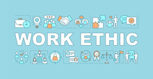 Work Ethic Word Concepts Banner