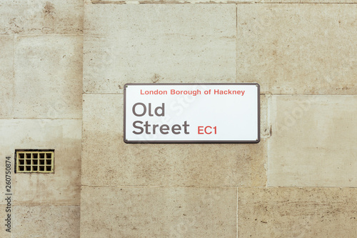 Fototapeta Old Street name sign, London Borough of Hackney
