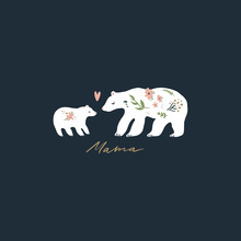 Mama Bear Nursery Vector Image...