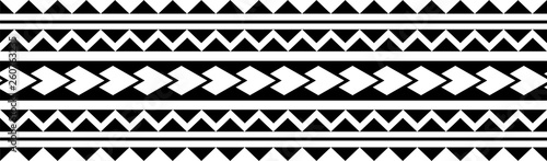 Polynesian Tattoo Sleeve Pattern Vector Samoan Forearm And Foot