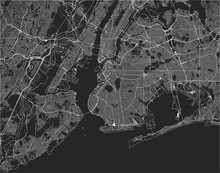 Map Of The New York City, NY, ...