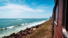 Coastal Train In Sri Lanka