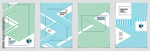 Papel de parede  Minimalistic cover brochure designs