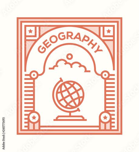 Fotografia  GEOGRAPHY ICON CONCEPT