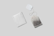 Tea Bag ,Tea Pack With Label For Mockup With White Background.High Resolution Photo.