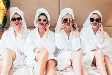 Leisure Time At Spa. Women Rel...