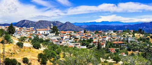 Traditional mountain village Lefkara in Cyprus island
