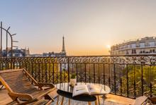 Beautiful Paris Balcony At Sun...