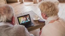 Grandchild Over Video Call Wav...