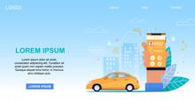 Mobile Taxi Service App. Yello...