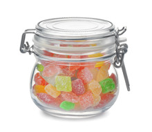 Glass Jar Full Of Colorful Har...