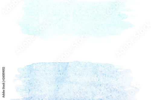 Border of abstract watercolor art hand paint on white background. Watercolor background - 260814012