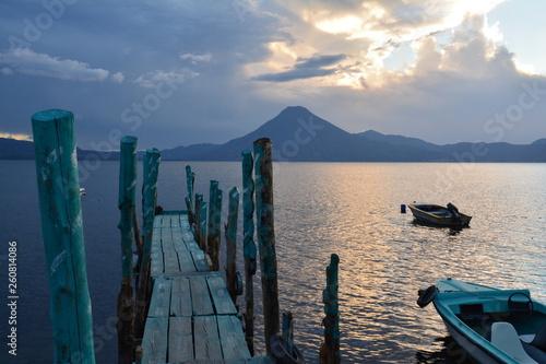 Obraz na plátně Coucher de Soleil Lac Atitlán Panajachel Guatemala