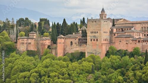 Photo sur Aluminium Monument Vista de la Alhambra de Granada desde el Albaicín