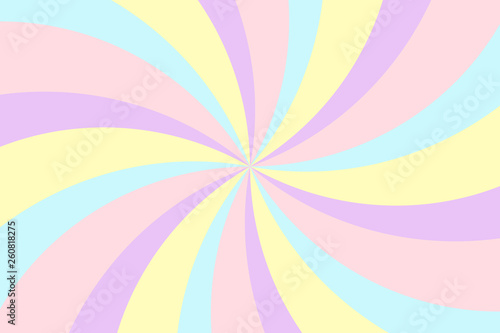 Tuinposter Pop Art Vortex background. Stripes in retro pop art style