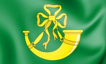 3D Flag Of Huntingdonshire, En...
