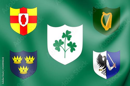 Photo  3D Flag of IRFU, Ireland.
