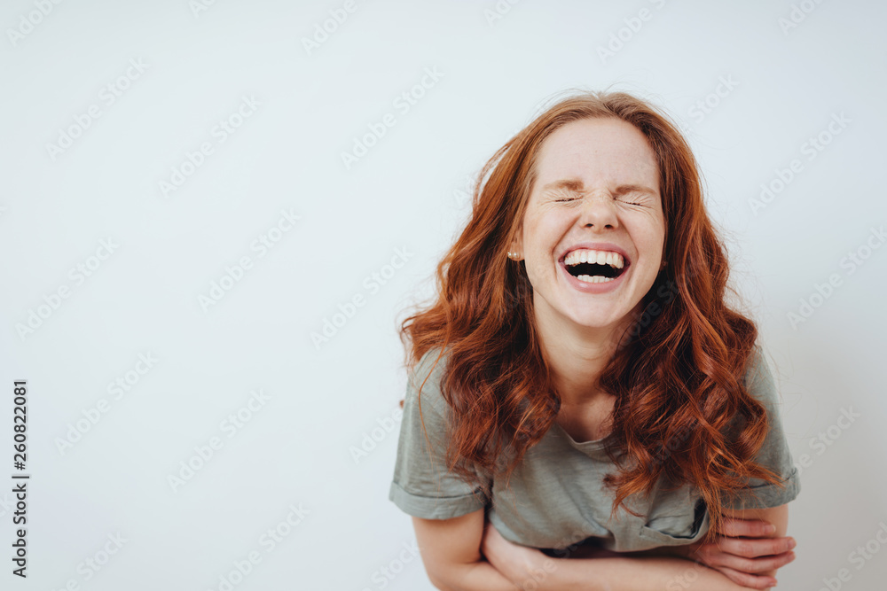 Fototapety, obrazy: Young woman with a good sense of humor
