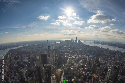 Fotografia  View from Empire State Building on New York