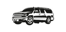 Vector Illustration SUV Or Spo...