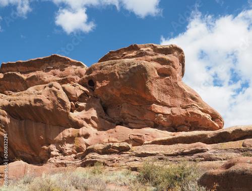 Fotografía  Natural red rock sandstone formations in Morrison Colorado