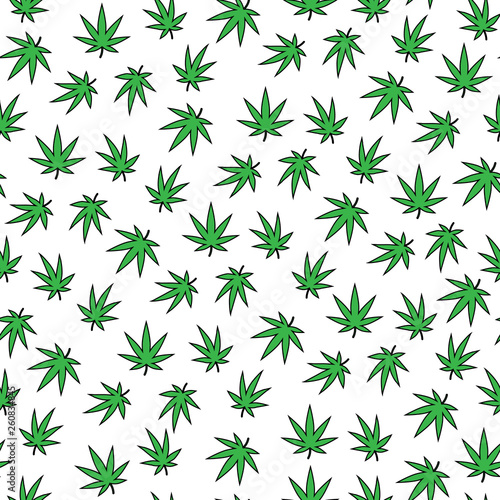 A lot of cannabis leaves Wallpaper Mural