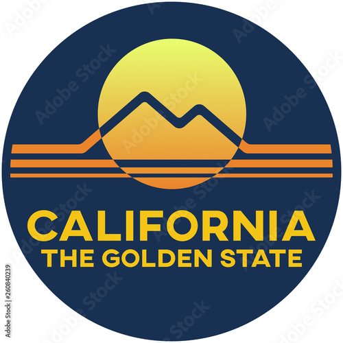Photo  california: the golden state | digital badge