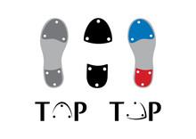 Tap Dance Shoes Icon Set Vecto...