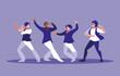 men dancing avatar character