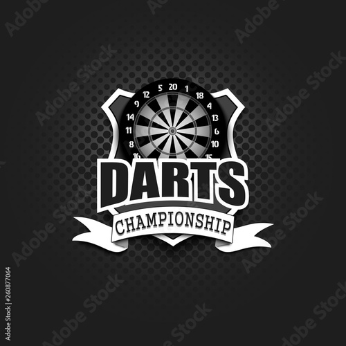 Carta da parati Darts logo template design
