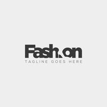 Fashion Shoe With Simple Flat Negative Logo Type Vector Illustration