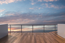Balcony View Of  Sky. Landscap...