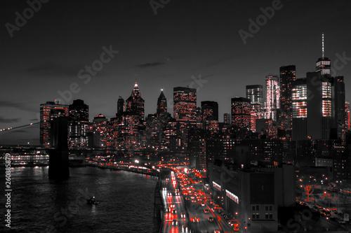 nowy-jork-czarno-biala-noc