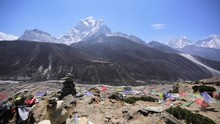 Panorama Of Dingboche Valley W...