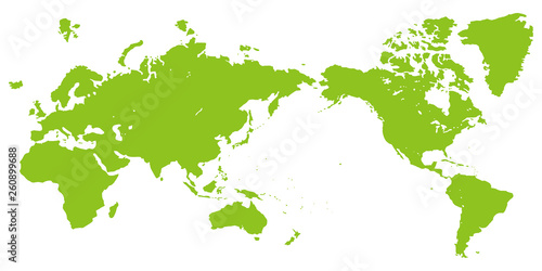 Pinturas sobre lienzo  世界地図