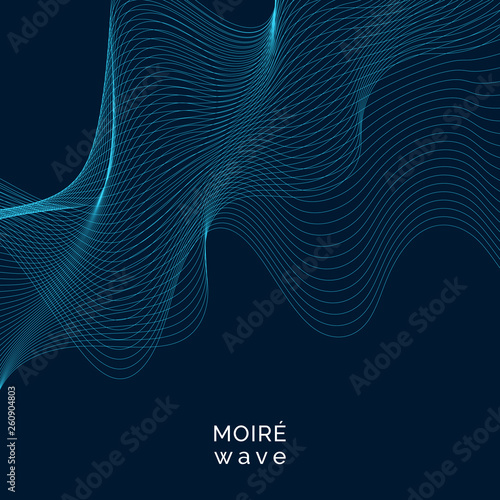 Foto op Aluminium Abstract wave Moiré pattern background
