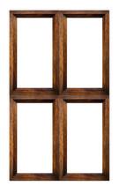 Wood Frame Isolated On White.