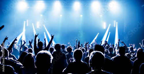 Photo audience at rock concert