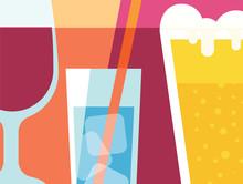 Abstract Beverage Design In Fl...